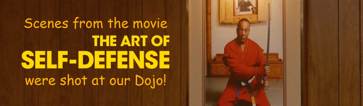 Scenes from the movie The Art of Self-Defense Were shot at our Dojo!