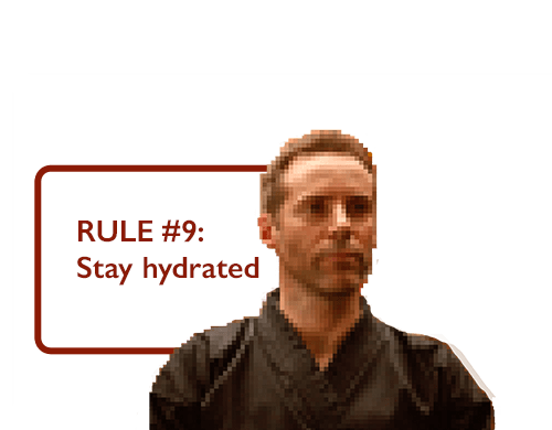 RULE #9: Stay Hydrated
